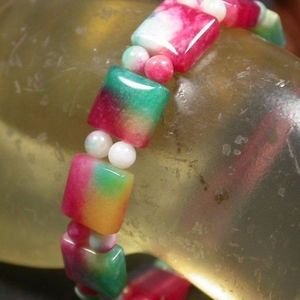 Beads Rectangle Bangle Bracelet